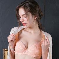 【EASY SHOP】柔情蔓戀 大罩杯B-E罩內衣(粉膚橘)
