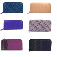 BOTTEGA VENETA  經典手工編織拉鍊長夾.六色可選(藍/紫/紫紅/粉膚/紫藍/粉紫)