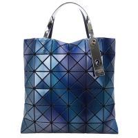 ISSEY MIYAKE 三宅一生 BAOBAO PHASE線紋三色極光漸變6x6手提包(藍紫)