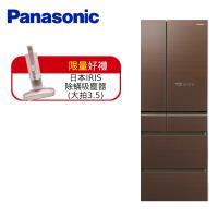 買就送日本IRIS除蟎吸塵器(大拍3.5)+全家$3000商品卡+日本原裝餐具組★Panasonic國際牌日本製500L一級能效六門變頻冰箱-翡翠棕 NR-F504HX-T1 (庫)