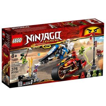LEGO樂高積木 - NINJAGO 旋風忍者系列 - 70667 赤地的刀鋒轉輪車及冰忍的雪地摩托車
