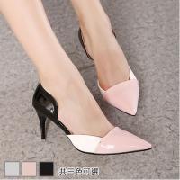 Alice  韓系性感拼色尖頭高跟鞋