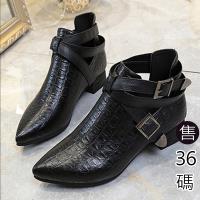 Alice 冬漾英倫簡約率性素面短靴