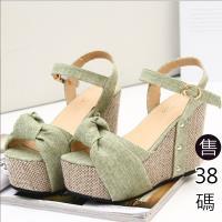 Alice 羅馬魅力 波西米亞編織楔型跟涼鞋