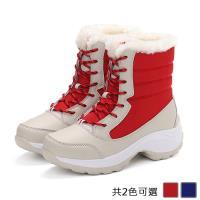 Alice 東森獨家首賣防潑水加絨厚底健走雪靴