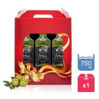 【PONS】西班牙原裝進口特級處女果香橄欖油750MLx3 (禮盒裝)