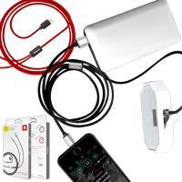 Baseus for Apple 裝置轉 3.5mm輸出音樂至喇叭+USB充電音頻線-100CM