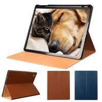 輕薄款!! 優質真皮牛皮皮套 Apple iPad Pro 11吋 2018 平板電腦專用保護套 直接斜立式牛皮皮套