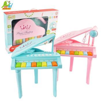 Playful Toys 頑玩具 三角電子琴+麥克風HY675(兒童電子琴 兒童鋼琴 兒童樂器 音樂麥克風 兒童玩具)