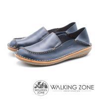 WALKING ZONE 皮革直套式兩穿懶人鞋 女鞋 - 藍 (另有咖)