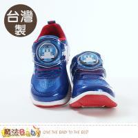 魔法Baby 童鞋 台灣製POLI正版波力款閃燈運動鞋 sa91206