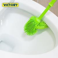 VICTORY-橡膠軟毛多角馬桶廁刷組2入
