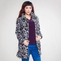 黛莉克絲優雅顯瘦壓棉印花外套