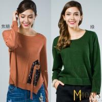 MONS親膚質感造型針織上衣(2款可選--M~XL 3段尺寸可選)