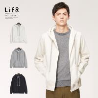 Life8-Casual 高磅保暖 刷毛連帽拉鍊外套-10155