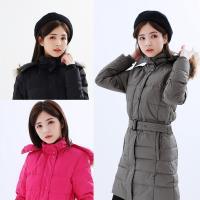 【遊遍天下】女款90%羽絨防風防潑水顯瘦長版可拆連帽外套GJ22012(三色)