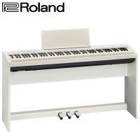 【Roland 樂蘭】FP-30 數位電鋼琴 白色88鍵 含腳架組及琴椅(內附安裝說明書)