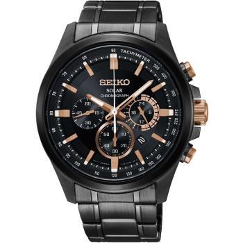 SEIKO精工 Criteria 台灣限定太陽能計時碼錶-42mm V175-0ER0SD(SSC695P1)