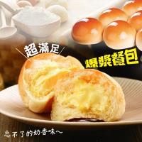 [老爸ㄟ廚房]  爆漿可口餐包 4包組 (350g±10%/10顆/包 ) 奶油/巧克力/藍莓口味