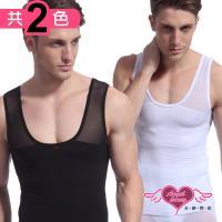 天使霓裳 流線束型男款收腹緊身背心上衣(共2色M~XL) RQ027