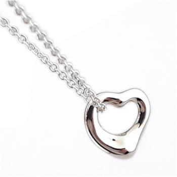 Tiffany 迷你Open Heart 925純銀項鍊