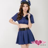 天使霓裳 警察制服 遐想誘愛角色扮演服(藍F) KK7050