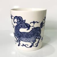 青花皇后楊莉莉-羊 生肖杯~吉羊如意