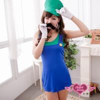 天使霓裳 角色扮演 瑪莉冒險 電玩人物派對表演服(綠F) CK88977