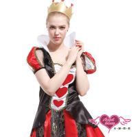 天使霓裳 角色扮演 紅心皇后 童話故事派對表演服(黑紅F) TH0144