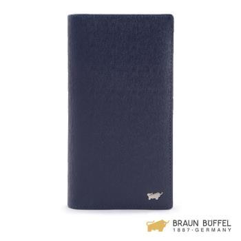 BRAUN BUFFEL  HOMME-M系列17卡長夾 -深藍 BF306-301-MAR