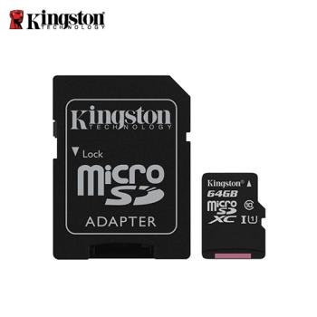 【Kingston 金士頓】Canvas Select MicroSDXC/UHS-I C10 64GB 記憶卡 (SDCS/64GB)