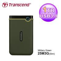 【Transcend 創見】StoreJet 25M3G 1TB 薄型行動硬碟 軍綠