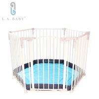 L.A. Baby   多功能兒童安全自動上鎖遊戲圍欄/護欄 (附藍色軟墊)