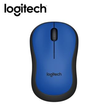 【logitech 羅技】M221 靜音無線滑鼠 藍 【贈防蚊貼】
