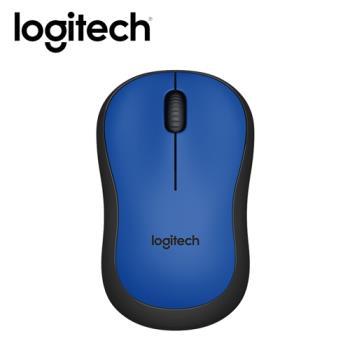 【logitech 羅技】M221 靜音無線滑鼠 藍