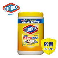 美國CLOROX 高樂氏 居家清潔殺菌濕紙巾 檸檬香(105片)