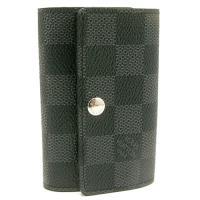 LV N62662 Damier Graphite 黑灰棋盤格六孔鑰匙包