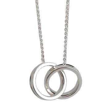 Tiffany 1837 雙戒環結墜飾925純銀項鍊