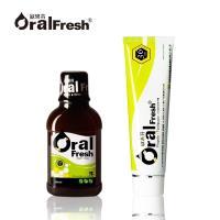 Oral Fresh 歐樂芬 天然口腔漱口水300ml+牙周護理蜂膠牙膏120g