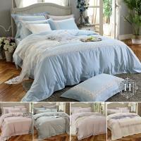 HOYA H Series簡約歐風 雙人300織長纖細棉被套床包四件組