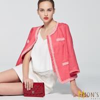 MONS國際精品小香風100%亞麻外套