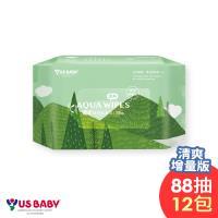 優生純淨柔濕巾88抽x12包-清爽型(送5支小本熊奶瓶)