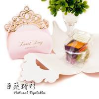 原蔬糖彩  粉紅皇冠婚禮小物綜合蔬果脆片 30G(10入組)