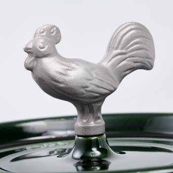 Staub 鑄鐵鍋造型鍋蓋把手 公雞