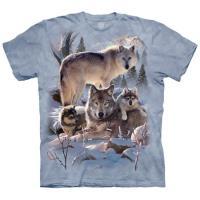 摩達客     3XL  美國 The Mountain 雪狼家族 純棉環保藝術中性短袖T恤