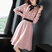 RN-girls-精品氣質荷葉領長袖洋裝小禮服