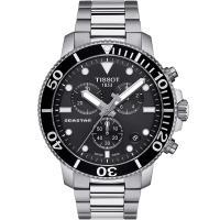 TISSOT天梭 SEASTAR海星計時300米潛水錶(T1204171105100)-黑/45.5mm