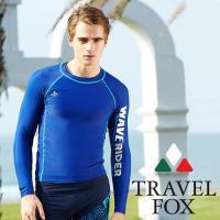 夏之戀TRAVEL FOX 大男長袖衝浪上衣C16909