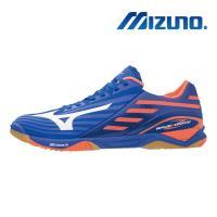 【MIZUNO 美津濃】WAVE DRIVE Z2 男 桌球鞋 藍橘 81GA160000