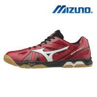 【MIZUNO 美津濃】WAVE MEDAL 5 男 桌球鞋 紅黑 81GA151562
